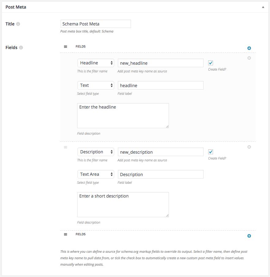 Schema plugin post meta generator example
