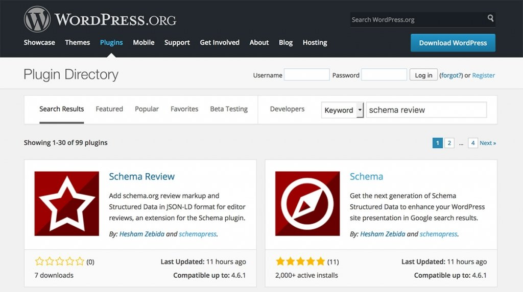 Schema Reviews Plugins