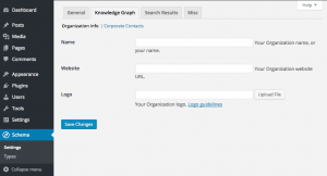 Schema plugin Knowledge Graph Organization settings