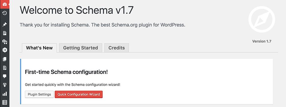 Schema Configuration Wizard