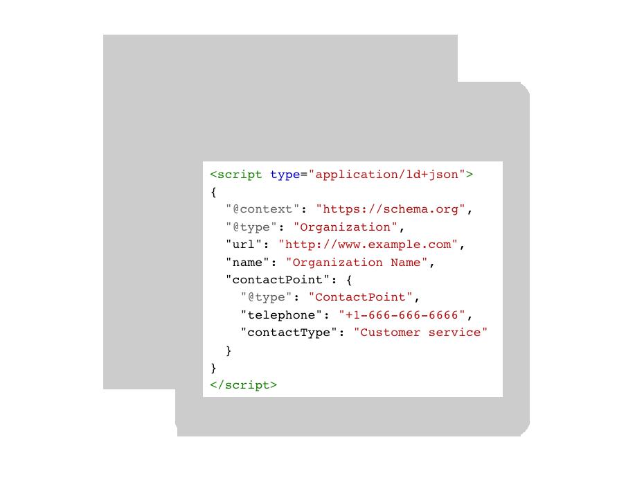 Schema markup in JSON-LD