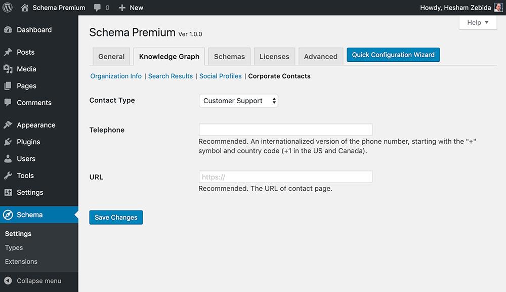 Schema Premium Corporate Contacts