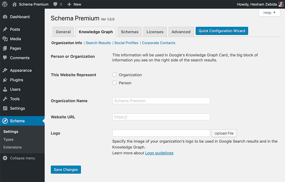 Schema Premium - Google's Knowledge Graph Card Settings