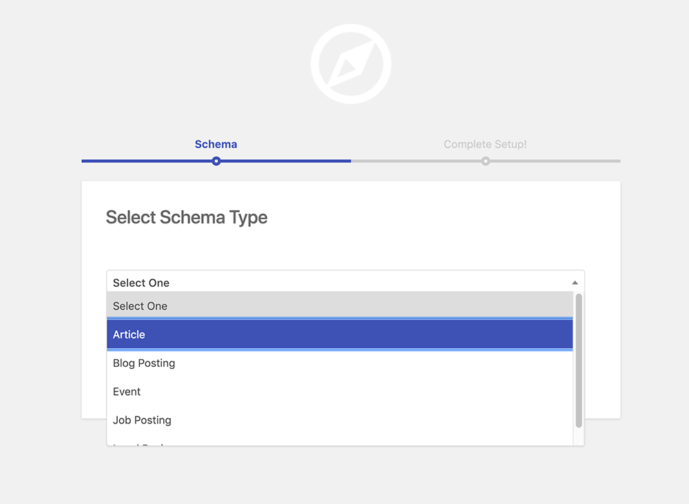 Select schema.org Article type