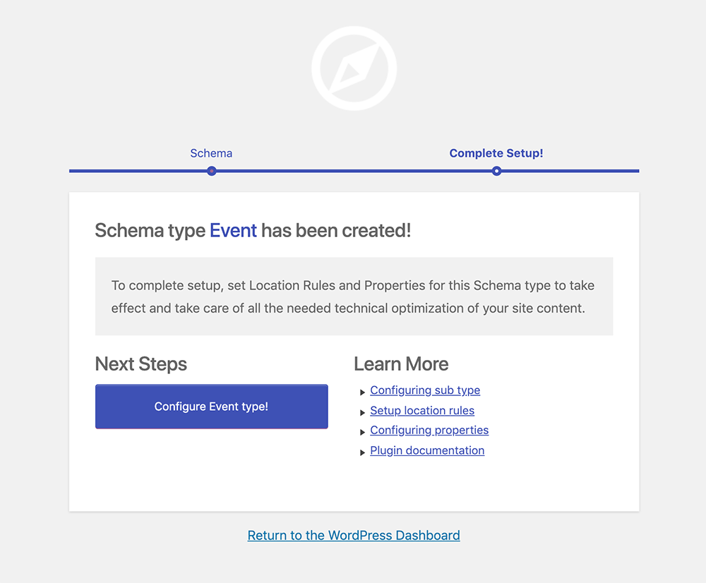 Creating schema.org type for Event