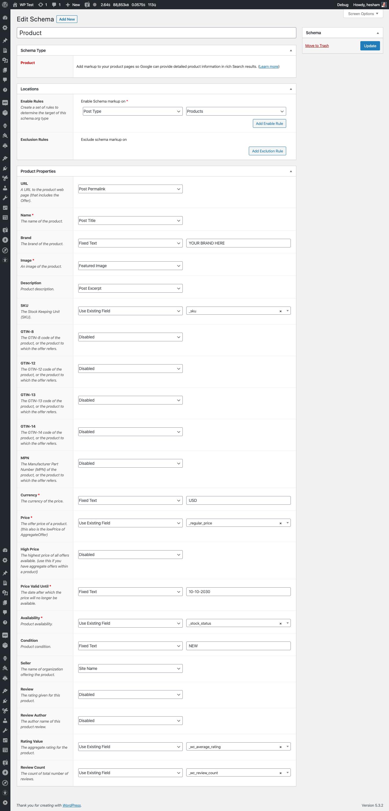 Schema Premium integration with WooCommerce