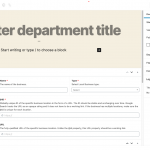 Add new department details