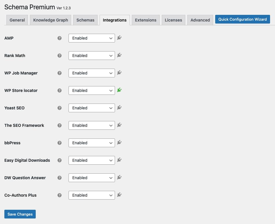 Schema WP Store Locator integration settings