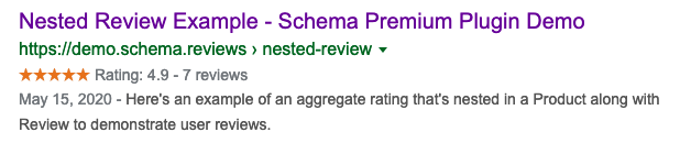 Schema Reviews Rich Snippets